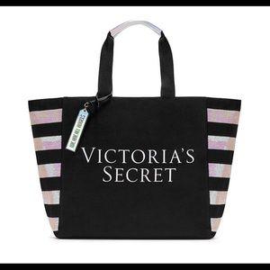 Victoria's Secret Sequin Striped Tote